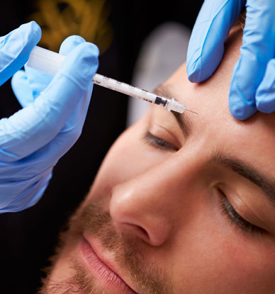 Botox facial reduce wrinkle